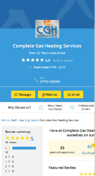 Complete Gas Heating Services Radstock